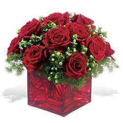 Bayburt çiçek yolla  9 adet kirmizi gül cam yada mika vazoda