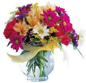 Bayburt internetten çiçek satışı  cam yada mika içerisinde karisik mevsim çiçekleri