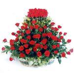 Bayburt kaliteli taze ve ucuz çiçekler  41 adet kirmizi gülden sepet tanzimi