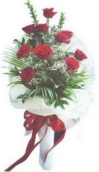 Bayburt hediye çiçek yolla  10 adet kirmizi gülden buket tanzimi özel anlara