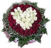 Bayburt çiçek mağazası , çiçekçi adresleri  27 adet kirmizi ve beyaz gül sepet içinde
