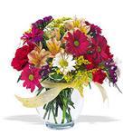 Bayburt çiçek , çiçekçi , çiçekçilik  cam yada mika vazo içerisinde karisik kir çiçekleri