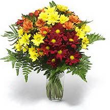 Bayburt çiçek siparişi sitesi  Karisik çiçeklerden mevsim vazosu