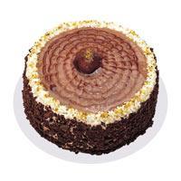 Kestaneli Yas Pasta 4 ile 6 kisilik  Bayburt online çiçek gönderme sipariş