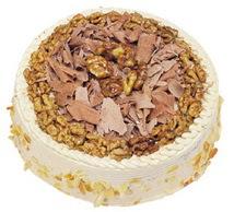 Karamelli 4 ile 6 kisilik yas pasta  Bayburt çiçek yolla