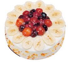 Meyvali 4 ile 6 kisilik yas pasta leziz  Bayburt ucuz çiçek gönder