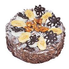 Muzlu çikolatali yas pasta 4 ile 6 kisilik   Bayburt uluslararası çiçek gönderme