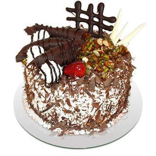 4 ile 6 kisilik çikolatali yas pasta  Bayburt kaliteli taze ve ucuz çiçekler