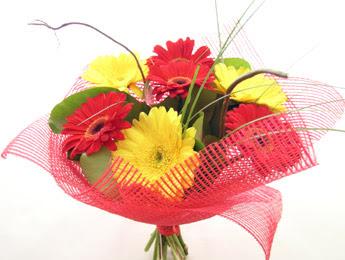 9 adet gerbera çiçeklerinden buket  Bayburt çiçek satışı