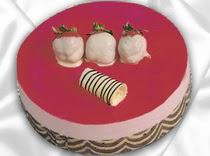 pasta siparisi 4 ile 6 kisilik yas pasta çilekli yaspasta  Bayburt çiçek servisi , çiçekçi adresleri