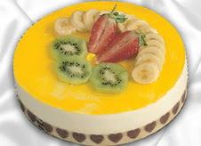 pasta gönderme 4 ile 6 kisilik yas pasta muzlu yaspasta  Bayburt çiçek mağazası , çiçekçi adresleri