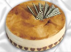 taze pasta 4 ile 6 kisilik yas pasta karamelli yaspasta  Bayburt çiçekçiler