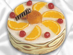 lezzetli pasta satisi 4 ile 6 kisilik yas pasta portakalli pasta  Bayburt çiçekçi mağazası