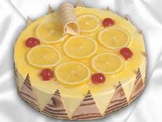 taze pastaci 4 ile 6 kisilik yas pasta limonlu yaspasta  Bayburt online çiçek gönderme sipariş