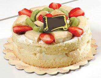 pasta siparisi 4 ile 6 kisilik karisik meyvali yas pasta  Bayburt çiçek servisi , çiçekçi adresleri