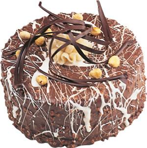 pasta satisi 4 ile 6 kisilik çikolatali yas pasta  Bayburt İnternetten çiçek siparişi