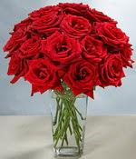 Bayburt çiçek siparişi sitesi  Sevdiklerinize özel ürün 12 adet cam içerisinde kirmizi gül  Bayburt hediye çiçek yolla