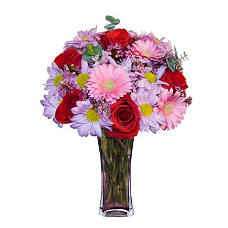 Görsel hediye karisik cam mevsim demeti  Bayburt çiçekçi mağazası