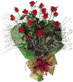 11 adet kirmizi gül buketi özel hediyelik  Bayburt çiçekçi mağazası