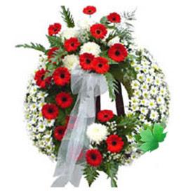 Cenaze çelengi cenaze çiçek modeli  Bayburt uluslararası çiçek gönderme