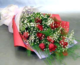 10 adet kirmizi gül çiçegi gönder  Bayburt anneler günü çiçek yolla