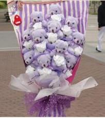 11 adet pelus ayicik buketi  Bayburt çiçek gönderme sitemiz güvenlidir