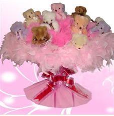 11 adet pelus ayicik buketi  Bayburt çiçek satışı