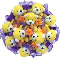 11 adet pelus ayicik buketi  Bayburt çiçek mağazası , çiçekçi adresleri