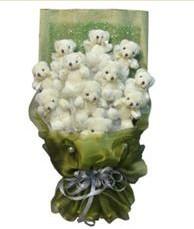 11 adet pelus ayicik buketi  Bayburt online çiçek gönderme sipariş