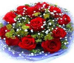 9 adet kirmizi güllerden buket  Bayburt çiçekçi telefonları