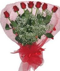 7 adet kipkirmizi gülden görsel buket  Bayburt çiçek mağazası , çiçekçi adresleri