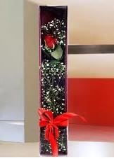 kutu içinde tek kirmizi gül  Bayburt çiçek online çiçek siparişi