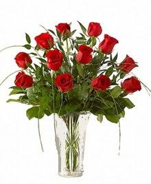 cam yada mika vazo içerisinde 9 kirmizi gül  Bayburt çiçek siparişi sitesi
