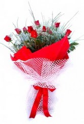 Bayburt İnternetten çiçek siparişi  9 adet kirmizi gül buketi demeti