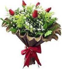 Bayburt online çiçek gönderme sipariş  5 adet kirmizi gül buketi demeti