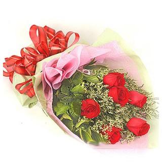 Bayburt çiçek , çiçekçi , çiçekçilik  6 adet kırmızı gülden buket
