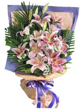 7 dal kazablankadan görsel buket  Bayburt kaliteli taze ve ucuz çiçekler