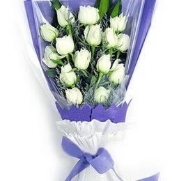 Bayburt çiçekçi mağazası  11 adet beyaz gül buket modeli