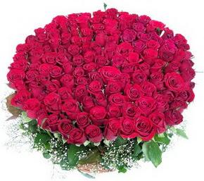 Bayburt online çiçekçi , çiçek siparişi  100 adet kırmızı gülden görsel buket