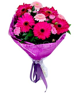 Bayburt çiçek siparişi sitesi  karışık gerbera çiçeği buketi
