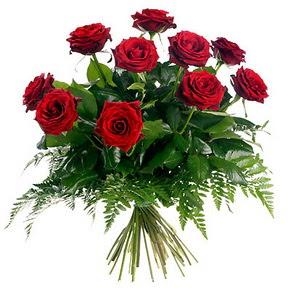 Bayburt çiçek gönderme  10 adet kırmızı gülden buket
