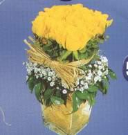 Bayburt anneler günü çiçek yolla  Cam vazoda 9 Sari gül