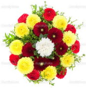 Bayburt çiçekçi mağazası  13 adet mevsim çiçeğinden görsel buket