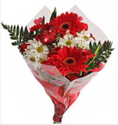 Mevsim çiçeklerinden görsel buket  Bayburt çiçekçiler