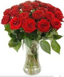 Bayburt çiçek mağazası , çiçekçi adresleri  Vazoda 15 adet kırmızı gül tanzimi