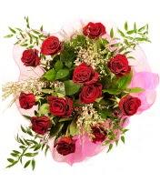 12 adet kırmızı gül buketi  Bayburt 14 şubat sevgililer günü çiçek