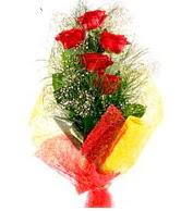5 li kırmızı gül buketi  Bayburt internetten çiçek satışı