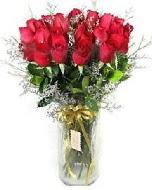 27 adet vazo içerisinde kırmızı gül  Bayburt İnternetten çiçek siparişi