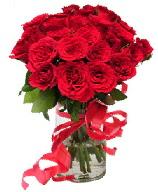 21 adet vazo içerisinde kırmızı gül  Bayburt çiçek satışı