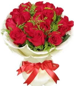 19 adet kırmızı gülden buket tanzimi  Bayburt çiçek servisi , çiçekçi adresleri